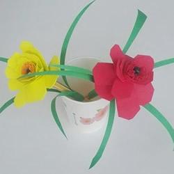 海绵纸花朵制作图解 用海绵纸折花的教程
