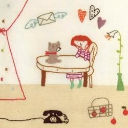 小清新的刺绣作品图片 可爱简笔画风格图案