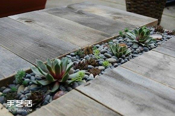 自制木板多肉花架DIY教程 还可以当桌椅用! -  www.shouyihuo.com
