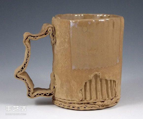 做旧陶瓷作品:模拟瓦楞纸、金属罐都超逼真 -  www.shouyihuo.com