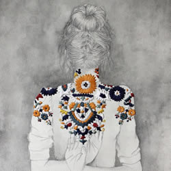刺绣艺术家Izziyana Suhaimi的精工刺绣作品