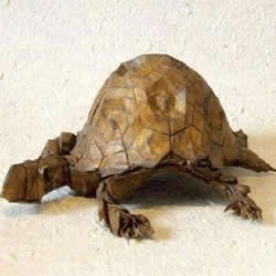 超难的折纸乌龟教程 逼真立体乌龟的折法