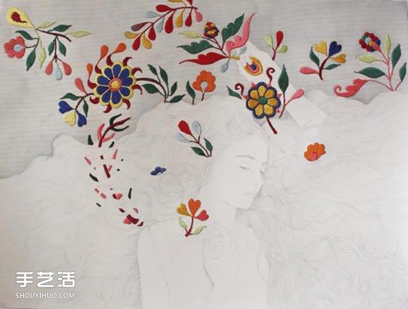刺绣艺术家Izziyana Suhaimi的精工刺绣作品 -  www.shouyihuo.com