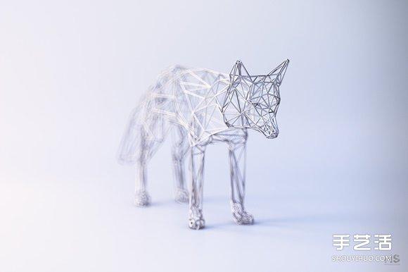 金包银 铁丝雕塑 缠绕出动物的优雅灵魂 手艺活网