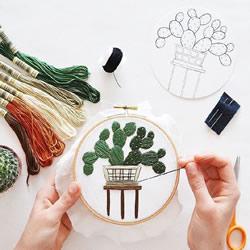 小清新手工刺绣作品欣赏 感受一针一线的美好