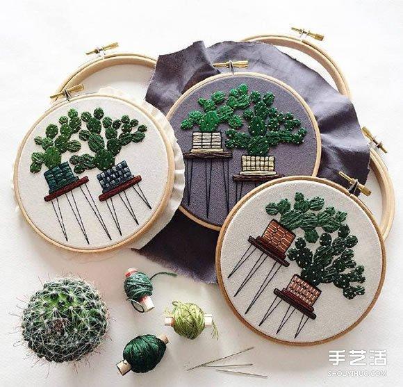 小清新手工刺繡作品欣賞 感受一針一線的美好