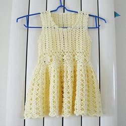 女宝宝公主裙的钩法 毛线公主裙的织法图解