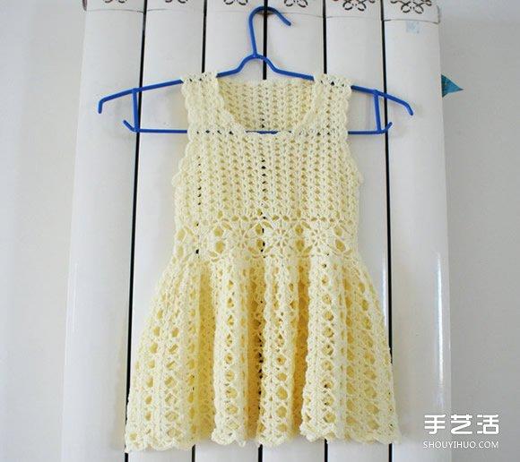 女寶寶公主裙的鉤法 毛線公主裙的織法圖解