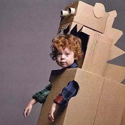 儿童纸箱手工制作图片 好玩的幼儿瓦楞纸