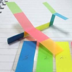 超久滑翔机折法图解 简易便签纸滑翔机制作