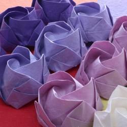 卷心玫瑰花折法图解 折纸含苞待放玫瑰的