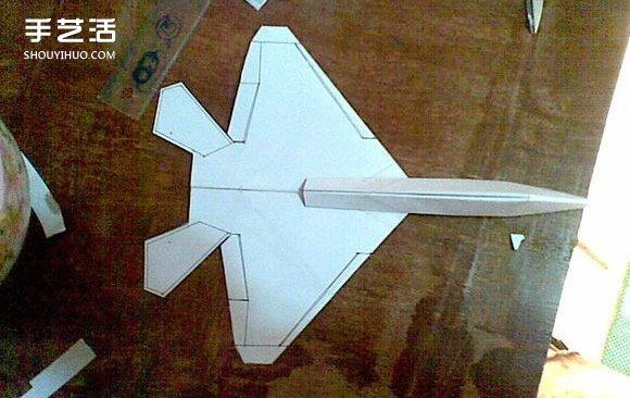 F-22戰鬥機摺紙圖解 手工製作F22戰機模型教程