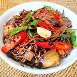 豉香茶树菇炒回锅肉的做法 好吃又开胃