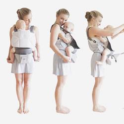 婴儿背带变摇篮 宝宝不管放下或怀里都舒适