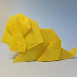 立体狮子折纸图解 手工立体狮子的折法教