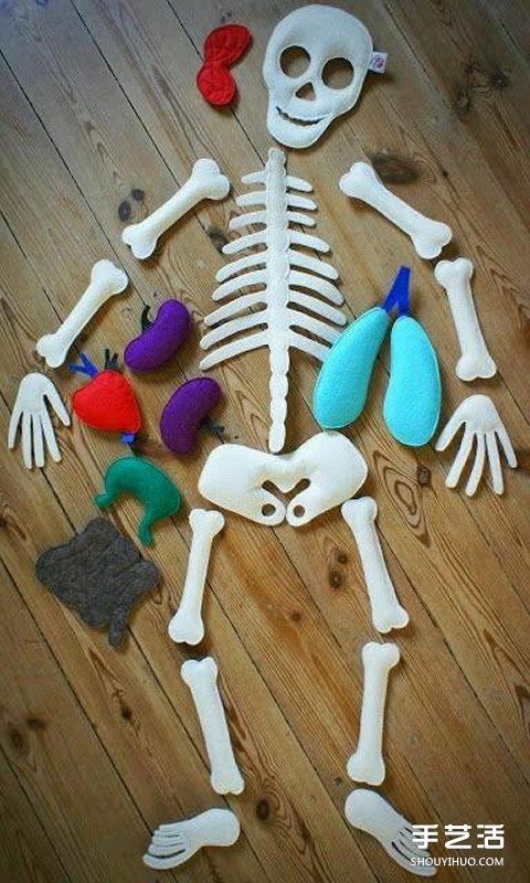幼儿园玩教具制作:教小朋友认知身体主要器官 手艺活网