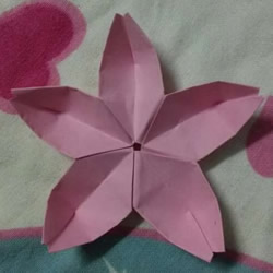 五个花瓣樱花的折法 纸樱花怎么折图解教