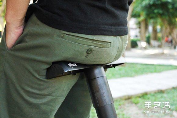 Sitpack伸缩自如椅子设计 排队神器想坐就坐 -  www.shouyihuo.com