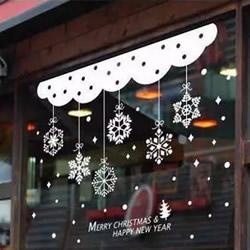 幼儿园环境创设图片之圣诞节窗户窗花贴纸