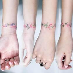 细腻清新的手腕纹身 美到不需要再买手环!