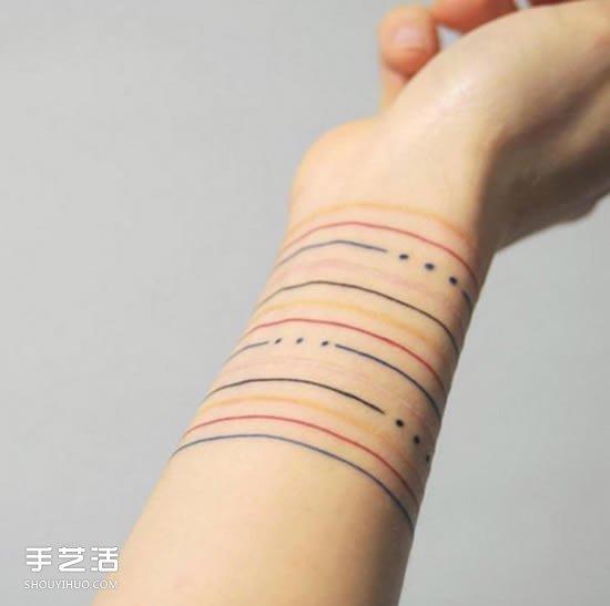 Bracelet Tattoo On Tumblr: 细腻清新的手腕纹身 美到不需要再买手环!_手艺活网