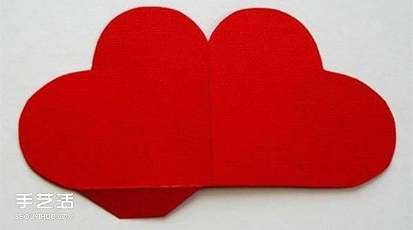 情人节红心贺卡制作 感恩的心立体贺卡DIY -  www.shouyihuo.com