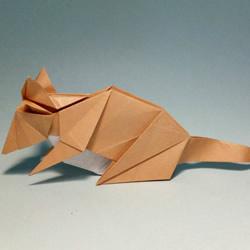 十二生肖老鼠的折法 逼真立体老鼠的折纸
