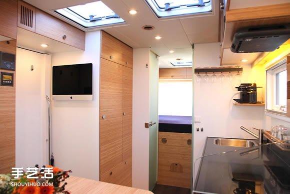 荷蘭 Bliss Mobil 軍用級貨櫃露營車設計