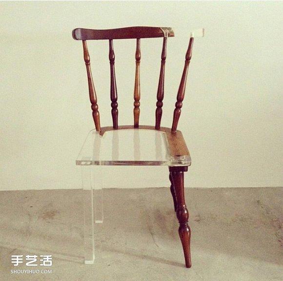 新舊並陳的壓克力修補術 保存舊傢具的歲月美