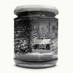 利用重复曝光 将怀念的家乡景色收进玻璃