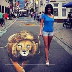 街头3D立体画作品欣赏 3D立体街头涂鸦图