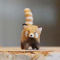 动物造型迷你粘土玩偶 超小可爱粘土玩偶作品