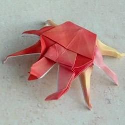 折纸螃蟹的步骤图解 复杂螃蟹折纸图解教
