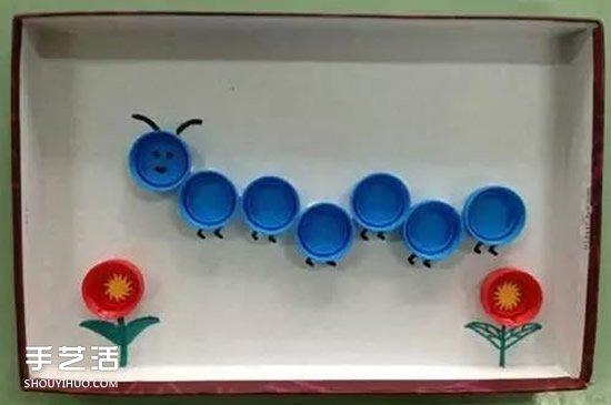 儿童瓶盖手工制作图片 简单瓶盖小制作创意 -  www.shouyihuo.com