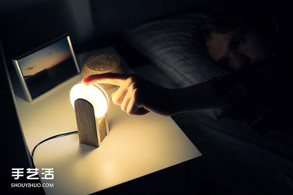 可以用手机调整灯光强弱的柔光小夜灯设计 -  www.shouyihuo.com
