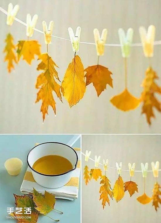 爸爸和妈妈的图片_儿童树叶贴画作品图片 秋天树叶拼贴画大全_手艺活网