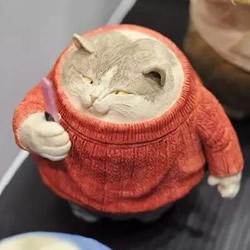 粘土肥猫手工作品欣赏 精致猫咪粘土作品图片