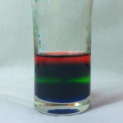 色彩分层小实验 利用了溶液密度的不同