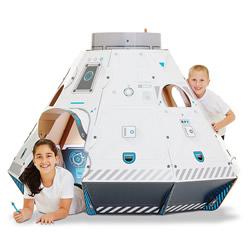硬纸板搭建 太空船造型的组装式秘密基地玩具