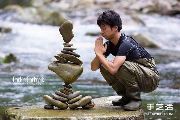 抵抗重力与声波 艺术家挑战高分贝下堆叠石塔 -  www.shouyihuo.com