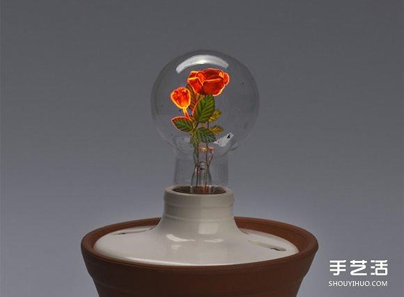【 產品設計 】通電使花綻放!古董燈泡的綺麗發光藝術| 燈泡 | 燈具設計