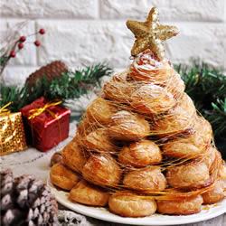 泡芙圣诞树的做法 漂亮圣诞节泡芙塔的做法