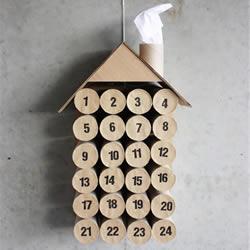 迎接圣诞到来 用卷纸筒为他做个倒数日历吧~