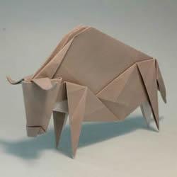 十二生肖牛的折法图解 手工折纸生肖牛步骤图