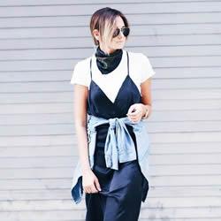 细肩带造型的多重性格 细肩带洋装穿搭潮流