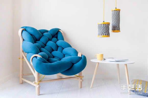 【 產品設計 】角落的大麻花沙發設計 就像一個柔軟的大抱枕| 沙發設計 | 椅子設計