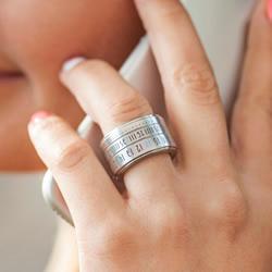 时光流动于指间!伪装成戒指的史上最小手表