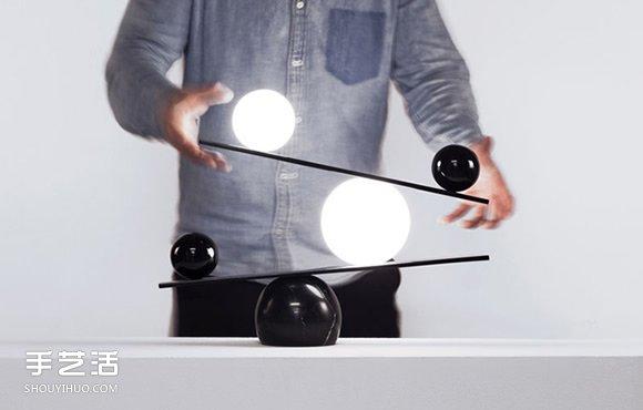 【 產品設計 】黑白之間的巧妙平衡 燈具魔術師的平衡檯燈設計| 燈具設計 | 檯燈設計