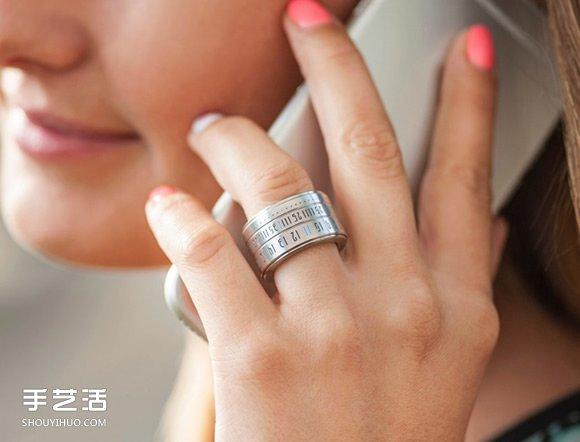 【 產品設計 】時光流動於指間!偽裝成戒指的史上最小手錶| 手錶設計 | 智能手錶