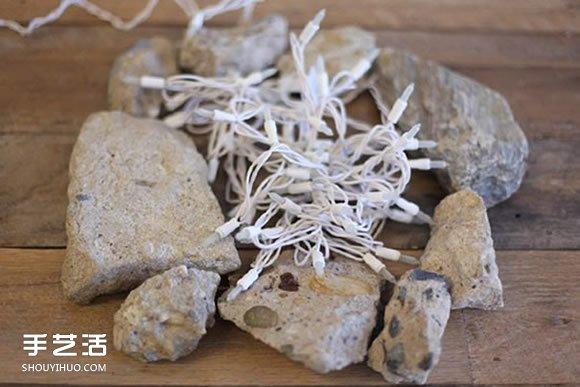 自制篝火装饰的方法 蕾丝篝火DIY图解教程 -  www.shouyihuo.com